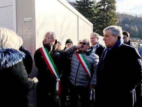 Il presidente del Parlamento europeo Tajani visita San Benedetto e Arquata