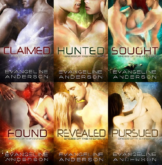 Brides of the Kindred Series!! Evangeline Anderson!! And Don't be a hater cause I read Science Fiction Romance!!