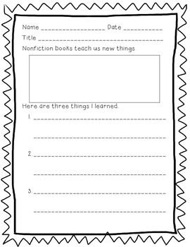 reaction to non fiction There are 3 sheets included one is a full sheet where students can put 4 facts  the second sheet is a half sheet with 2 facts the third sheet includes space for.