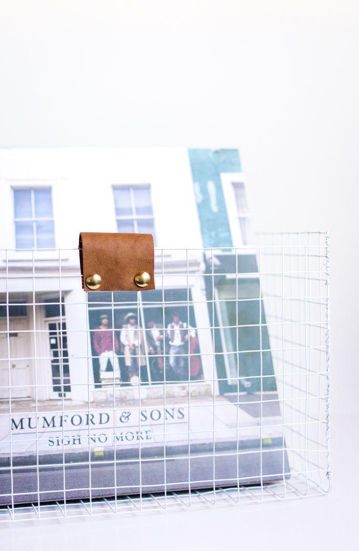 DIY Wire Box for Records