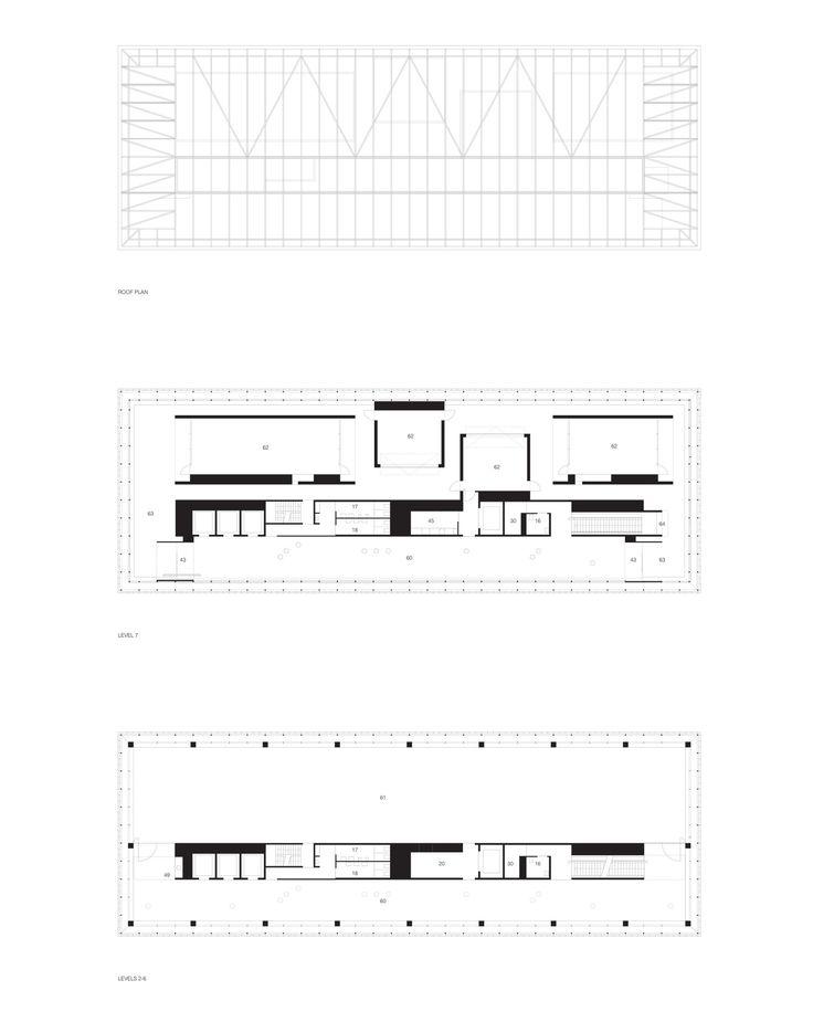 RMIT Design Hub / Sean Godsell. Upper Levels Floor Plans