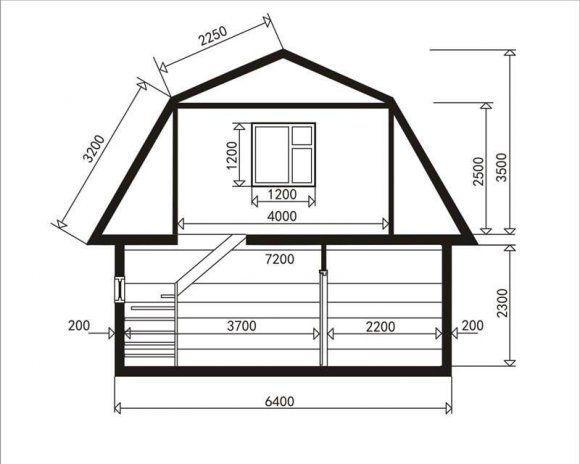 чертежи домов с мансардой - 2