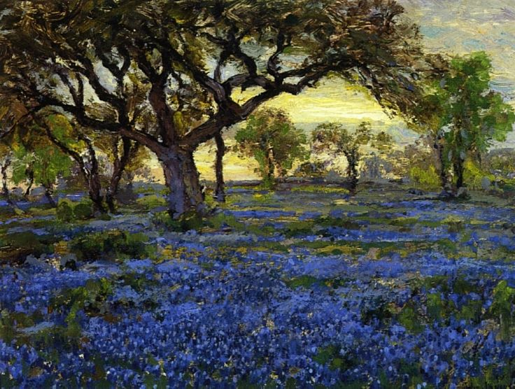 Old Live Oak Tree; Robert Julian Onderdonk. 1919