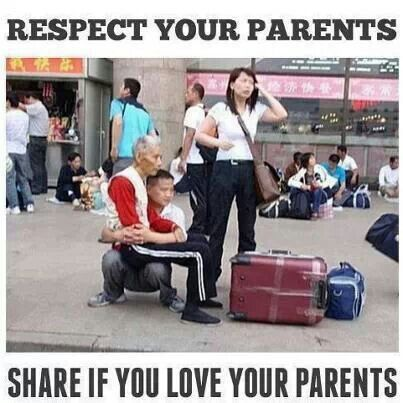 Always remember Parents always tried to provide comforts for us... now it's our turn♥♥♥