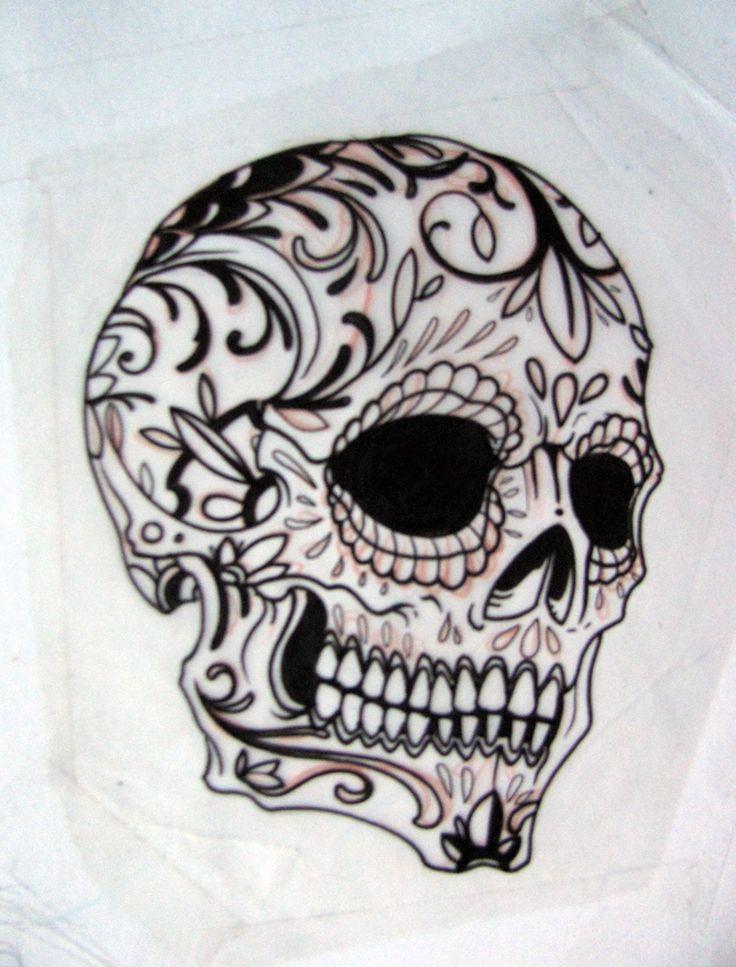 Beautiful Sugar Skulls Drawings Sugar Skull Outline | ...
