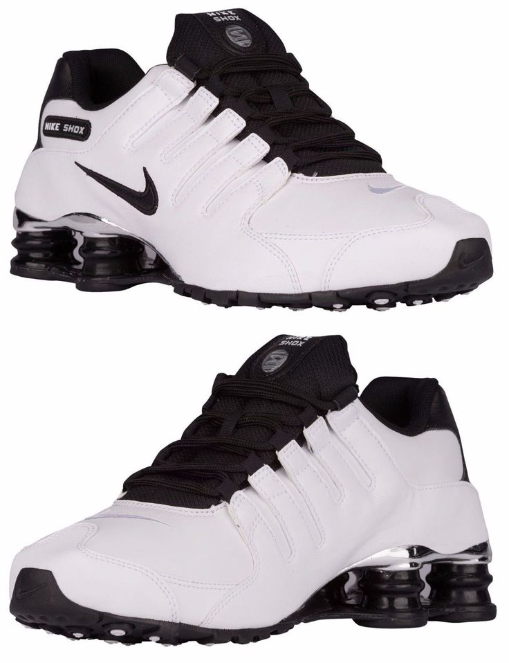 NIKE SHOX NZ PRE MEN's LEATHER M RUNNING WHITE - BLACK - WOLF GREY AUTHENTIC NEW