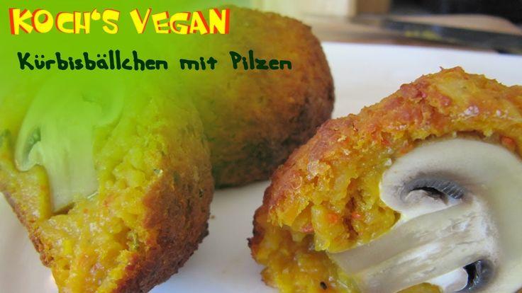 Kürbisbällchen mit Pilzen - Champignons zubereiten - vegane Rezepte von ...