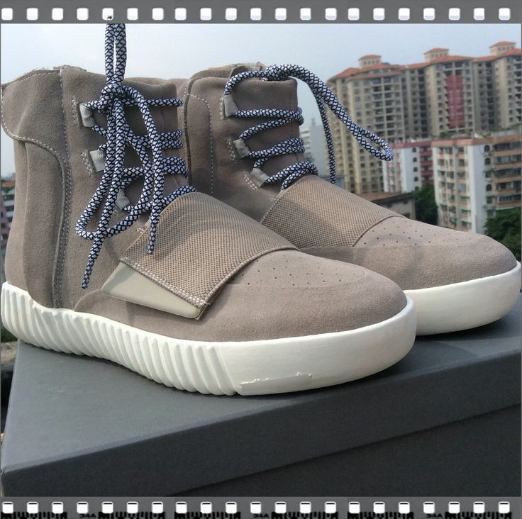 So Cheap!! $94.9 Adidas Shoes!- Kanye West 750 sneakers men shoes women boots high tide for latest pop Flat Shoes Men's sneakers leather shoe Casual Shoes