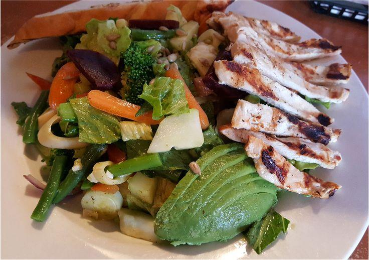 ... lemon basil vinaigrette. You can add chicken, steak, shrimp or tofu