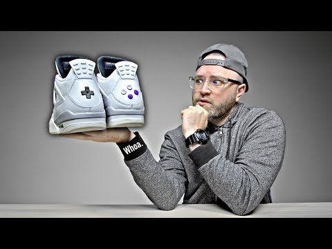 Unboxing The Ultra Rare Nintendo Jordans (The Buttons Actually Click!)