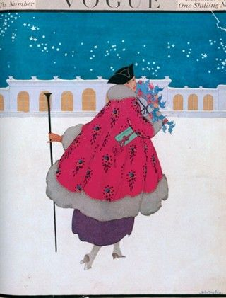 Fashion Fades Style Stays: Christmas Vogue Covers Of The Past December's. 1916