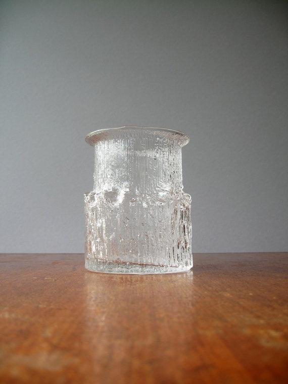 Vintage iittala Arnica Glass Vase Tapio Wirkkala by luola on Etsy, $62.00