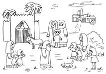 abraham op reis kleurplaat zoeken kerst
