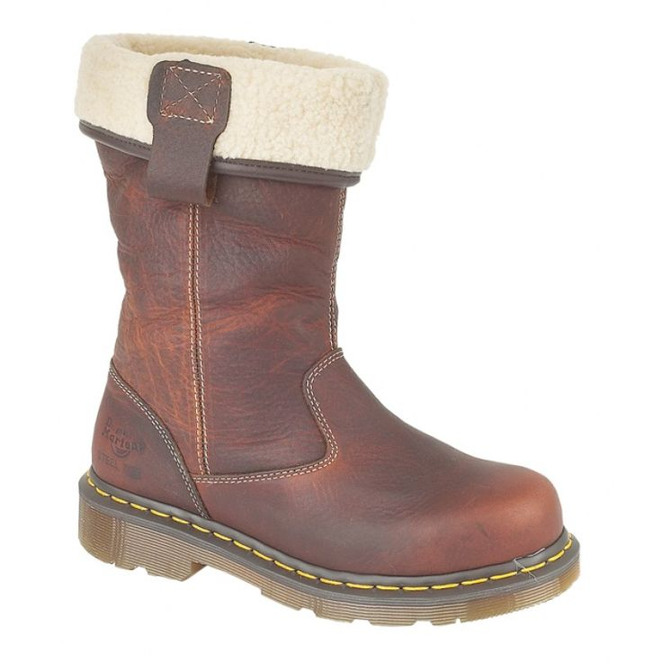 Dr Martens Rosa Premium Leather Fleece Lined Ladies Safety Rigger Boots