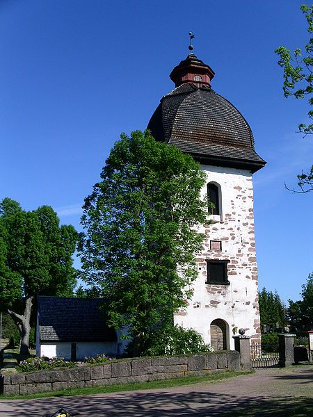Vårdö church, from west side,  Åland, Finland. Photo Taxelson