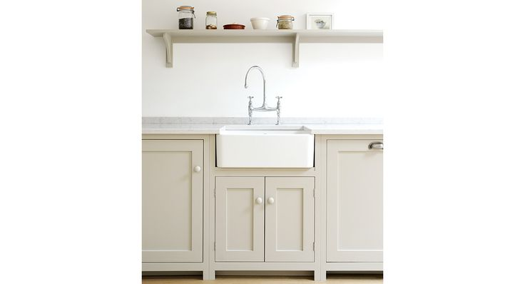 Simple Shaker Kitchen with Shelf