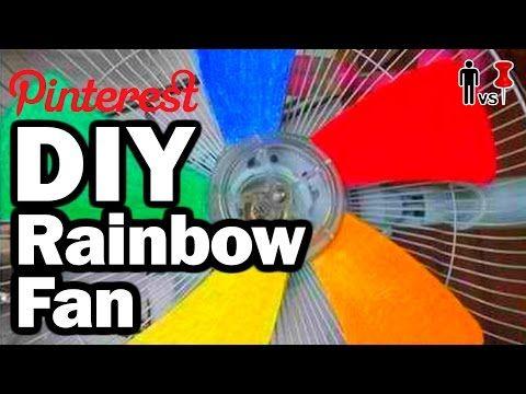 ▶ DIY Rainbow Fan - Man Vs Pin - Pinterest Test #63 - YouTube