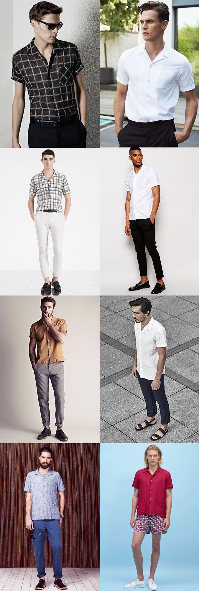Men's Cuban Collar Shirt Outfit Inspiration Lookbook