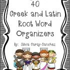 This is a set of 40 common Greek and Latin root word organizers.  Students write the root's definition, example words, and a sentence.  There are a...