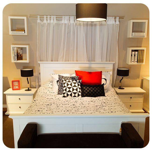 #Dormitorio #Bedroom #Blanco #White #Red #Rojo #Negro #Black #Cama #Bed #Homy