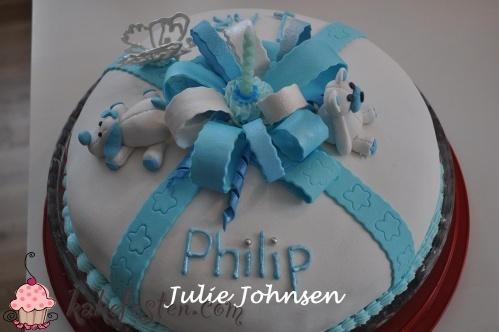 Kakefesten.com - kake, oppskrift, forum, bildegalleri, kakedekorering, kakepynt - Kategori: Bursdag gutt - Bilde: Philip 1 år.