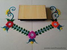 Ganesha chaturthi special rangoli design | Ganpati Rangoli design | Easy rangoli designs - YouTube