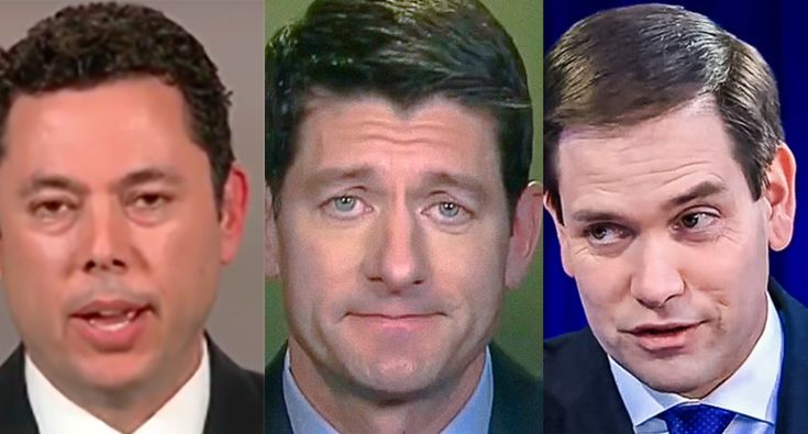 "Here are 10 Republicans who have done a complete 180 on Syria now that Obama's not president (And what about Trump twits? Priceless! ""Now that Obama's poll numbers are tailspin - watch for him to launch a strike in Lybia or Iran. He's desperate"". And ""The president must get Congressional approval before attacking Syrian. Big mistake if he does not."" You can't make this S* up!!)"