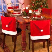 Red Pai Papai Noel cadeira chapéu do partido Tabela tampa traseira Jantar de Natal Decor Natal Navidad (China (continente))