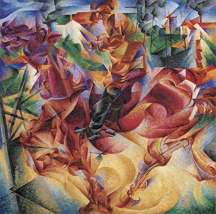 """Umberto Boccioni, 1912, """"Elasticity (Elasticità)"""""""