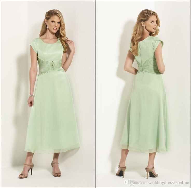 Never miss the chance to get the best ivory mother of the bride dresses,mature mother of the bride dressesand mother bridal dresses on DHgate.com. The cheap  green tea length mother's dress for wedding satin with chiffon corset short sleeves beaded a-line zipper mother of the bride dress hot sale is for sale in weddingdressesonline and buy it now!
