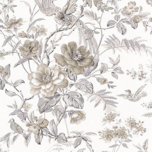 Brewster 2668-21532 Elizabeth Grey Wildflower Trail Wallpaper