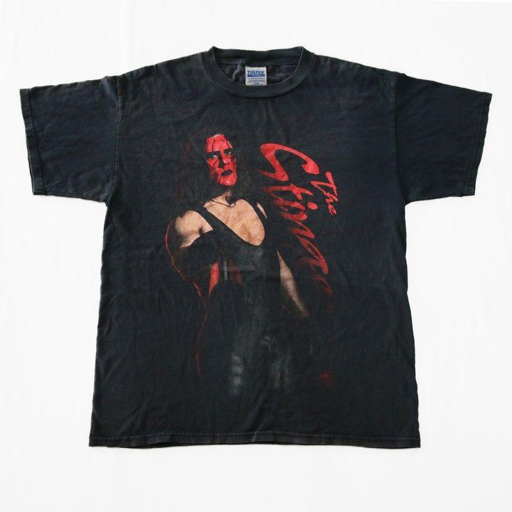Vintage 90s STING 1998 Professional Wrestler WCW nWo Wrestling T-Shirt     http://www.ebay.com/itm/Vintage-90s-STING-1998-Professional-Wrestler-WCW-nWo-Wrestling-T-Shirt-WWF-WWE-/152549929163    #Vintage #90s #STING  #ProfessionalWrestler #Wrestler #WCW #nWo #Wrestling #WrestlingLegend #Promo #WorldChampion #Tee #Shirt #Large #Black #wwf #wwe #SteveBorden #Sport