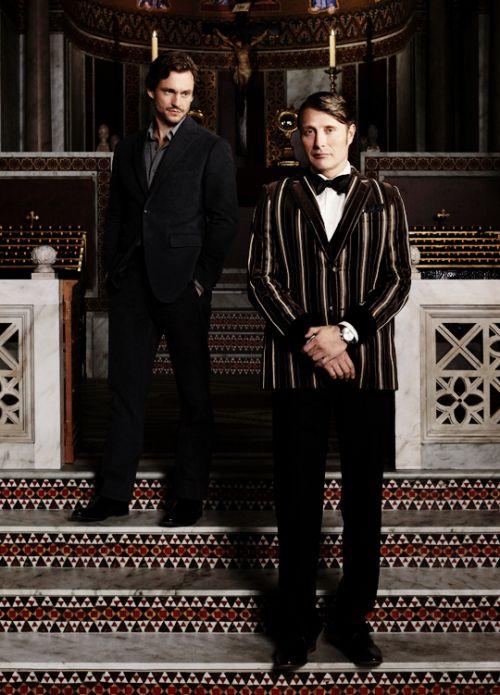 Hugh Dancy & Mads Mikkelsen | Hannibal Season 3 Promotional Image