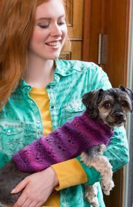 Strickmuster für Hundepullover mit Pfötchenmuster                                                                                                                                                                                 Mehr