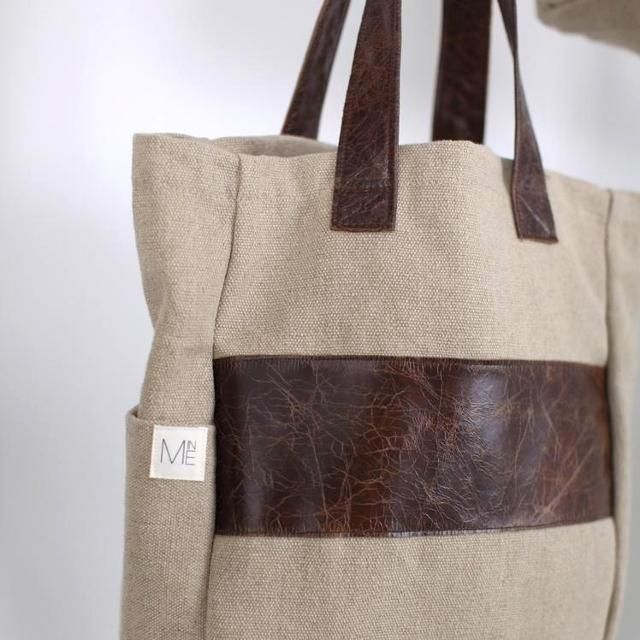 MINE enlightenment bag (100% hemp canvas). $125