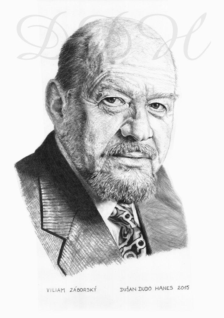 Viliam Záborský, portrét Dušan Dudo Hanes
