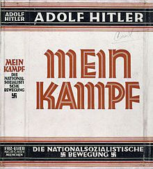 Dust jacket of Adolf Hitler's famous book