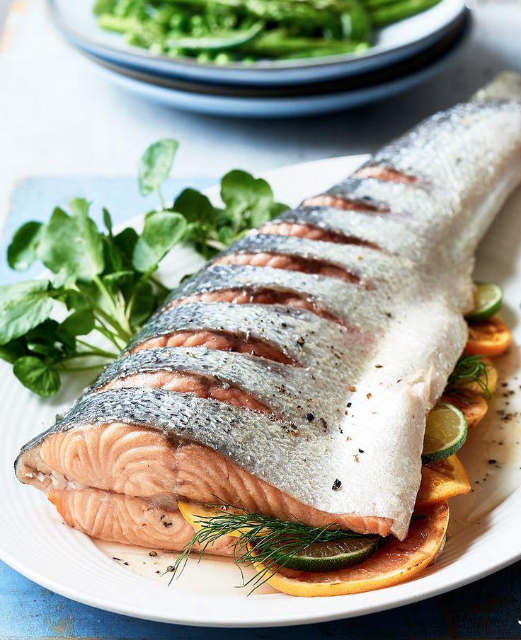 Asda Good Living   Zesty baked whole salmon