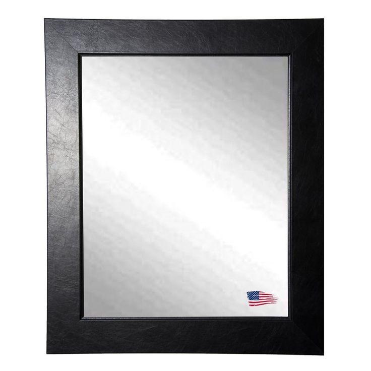 Rayne Mirrors Executive Black Wall Mirror - V0012
