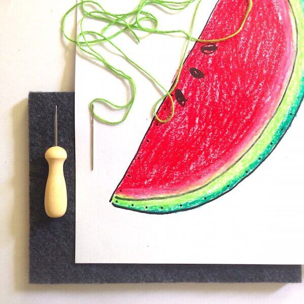 Fruits et Légumes à broder @ Le Petit Manuel
