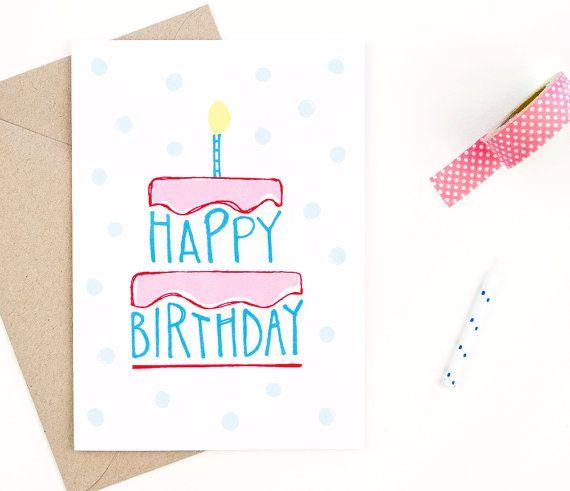 cartolina di buon compleanno - carta riciclata