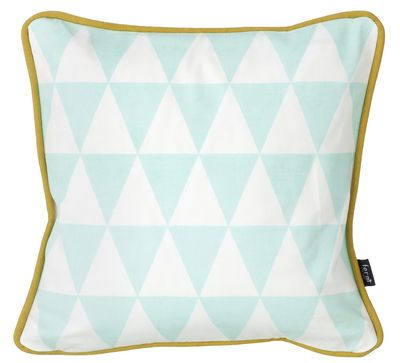 Scopri Cuscino Little geometry -cotone - 30 x 30 cm, Menta e bianco di Ferm Living, Made In Design Italia