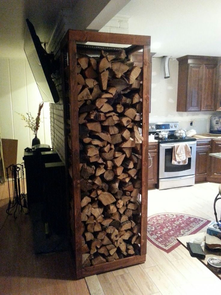 1000 ideas about indoor firewood rack on pinterest for Log storage ideas