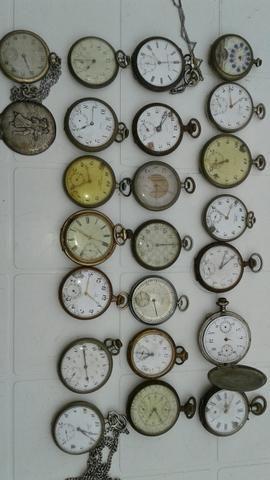 Relógios antigos de bolso                                                       …