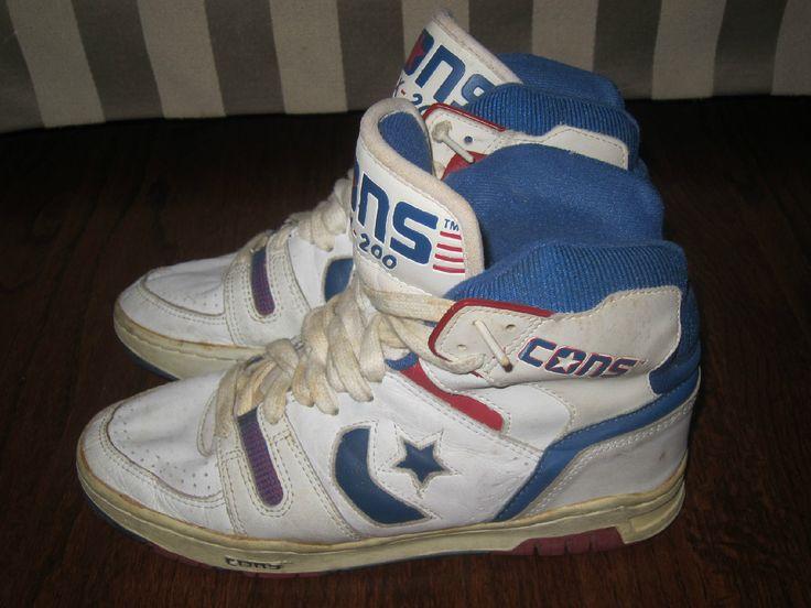 vtg converse cons dr j basketball hi shoes tops boots 80s