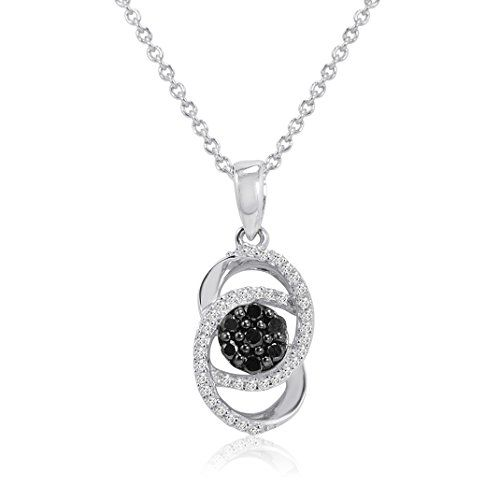 Black and White Diamond Infinity Pendant-Necklace in Sterling Silver 1/4ct tw	by Amanda Rose Collection - See more at: http://blackdiamondgemstone.com/jewelry/black-and-white-diamond-infinity-pendantnecklace-in-sterling-silver-14ct-tw-com/#sthash.deMF111r.dpuf