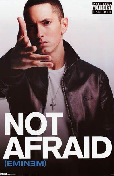 Eminem Not Afraid Marshall Mathers Music Poster 22x34