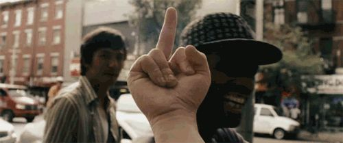 middle finger animated GIF