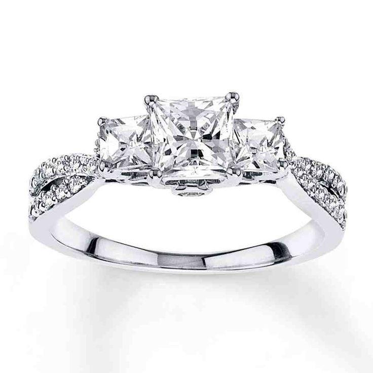 Princess Cut Diamond Engagement Rings White Gold