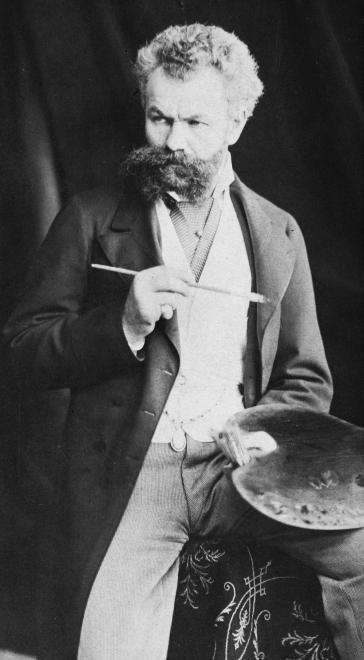 Munkácsy Mihály festőművész 1880 körül.